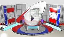 3D Model of Stage News Tv Studio Set Design-002