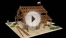blender 3d architecture wood construction